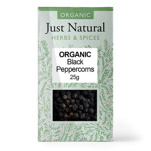 Just Natural Organic Peppercorns Black 25g