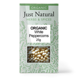 Just Natural Organic Peppercorns White 25g