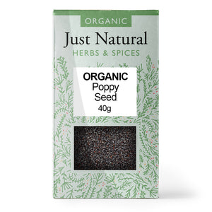 Just Natural Organic Poppy Seed 40g