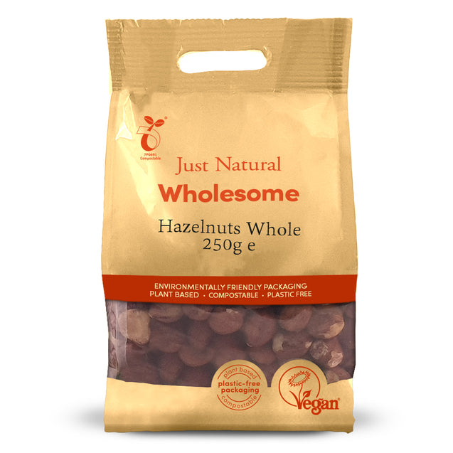 Just Natural Hazelnuts Whole 250g