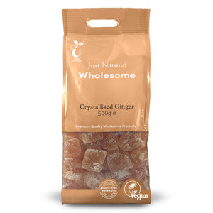 Just Natural Crystallised Ginger 500g