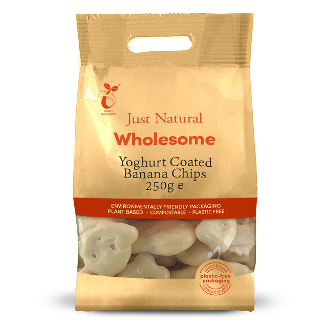 Just Natural Yoghurt Coated Banana Chips 250g