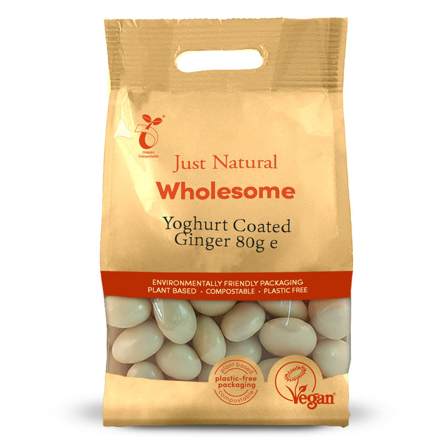 Just Natural Ginger Bites Coated In Delicious Yoghurt 80g