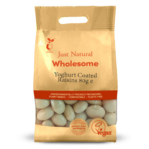 Just Natural Yoghurt Coated Raisins 80g