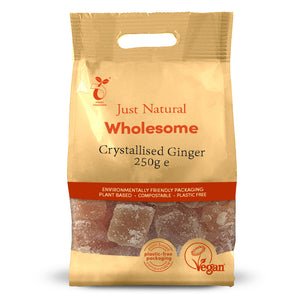 Just Natural Crystallised Ginger 250g