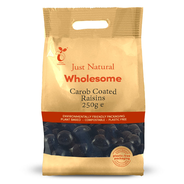 Just Natural Carob Coated Raisins 250g