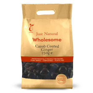 Just Natural Carob Coated Ginger 250g