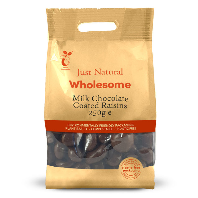 Just Natural Milk Chocolate Raisins 250g