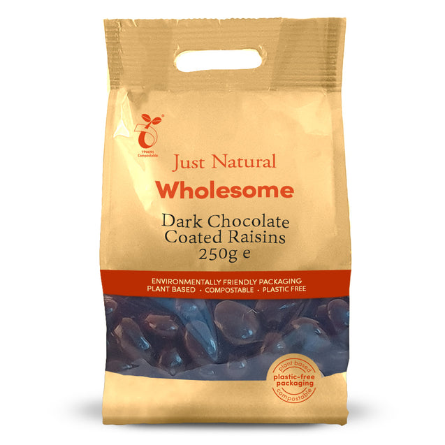 Just Natural Dark Chocolate Raisins 250g