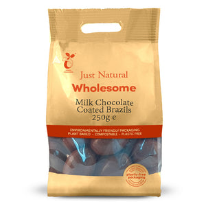 Just Natural Milk Chocolate Coated Brazils 250g