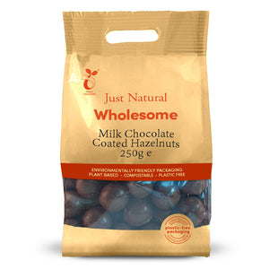 Just Natural Milk Chocolate Coated Hazelnuts 250g