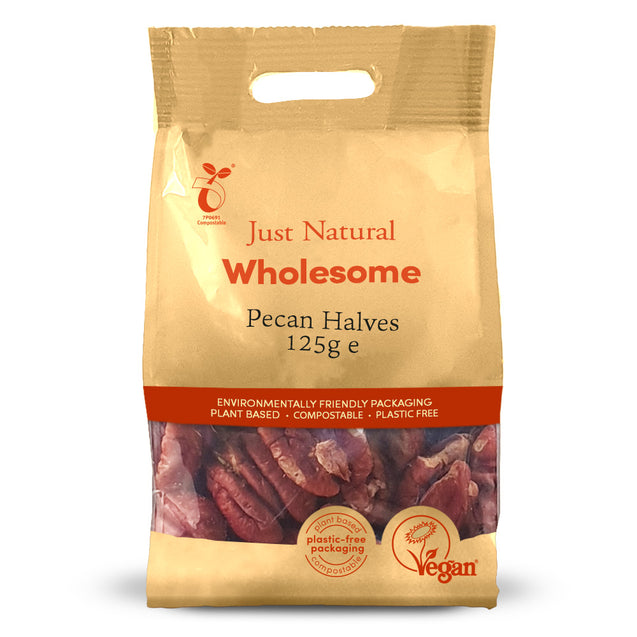 Just Natural Pecan Halves 125g