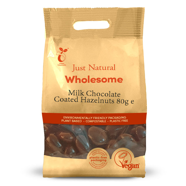 Just Natural Chocolate Coated Hazelnuts 80g