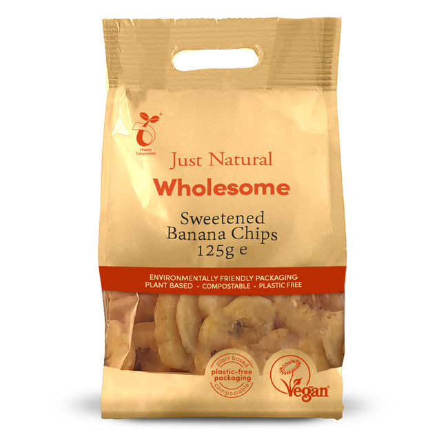 Just Natural Banana Chips 125g