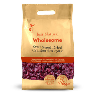 Just Natural Cranberries 250g