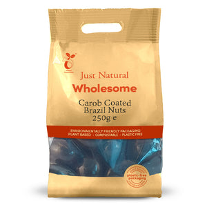 Just Natural Carob Coated Brazil Nuts 250g
