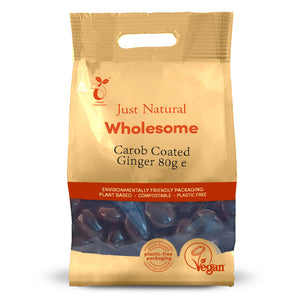 Just Natural Carob Coated Ginger 80g
