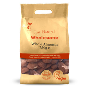 Just Natural Whole Almonds 250g