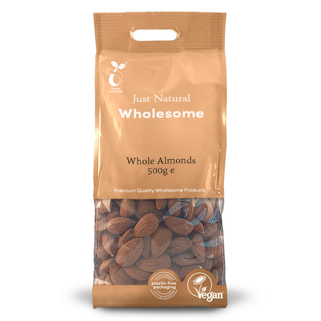 Just Natural Whole Almonds 500g