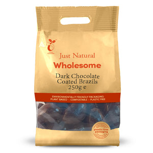 Just Natural Dark Chocolate Coated Brazils 250g