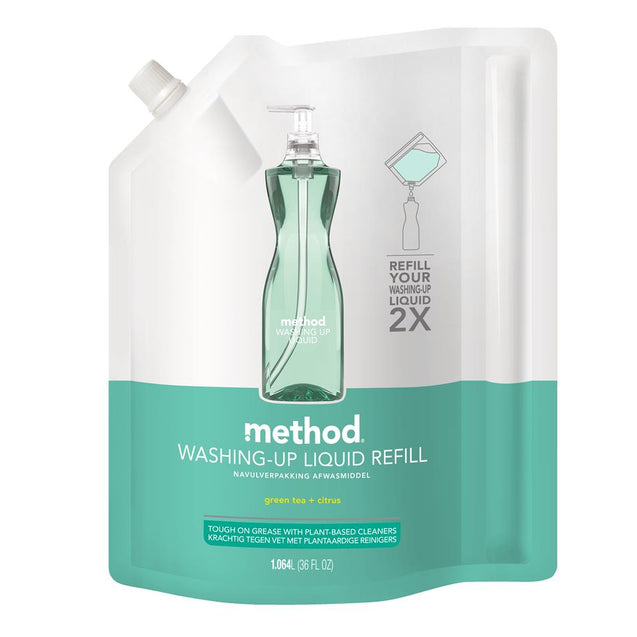 Method Refill Washing Up Liquid Green Tea & Citrus 1.064L
