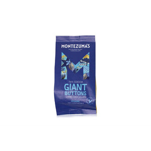 Montezumas Organic 74% Dark Chocolate Giant Buttons 180g