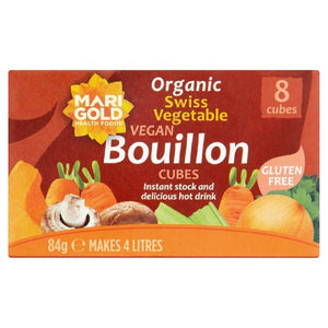 Org Veg Bouillon Regular GF 8 Cubes  Servings