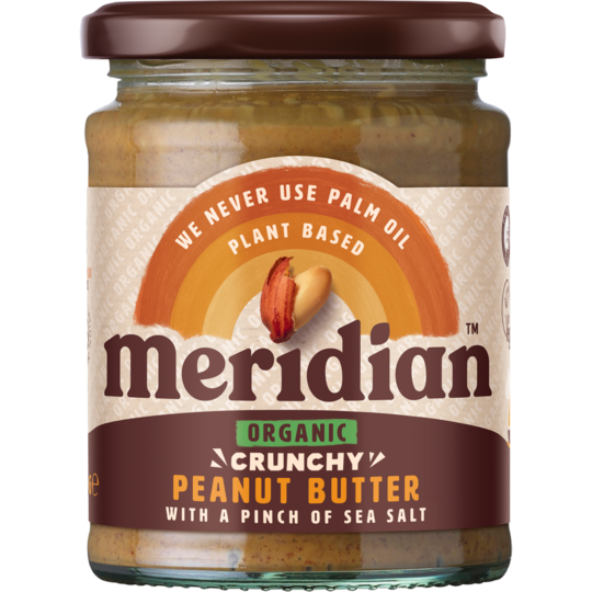 Meridian Organic Crunchy Peanut Butter with a pinch of salt 280g