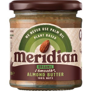 Meridian Organic Smooth Almond Butter 100% 170g