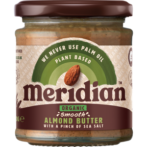 Meridian Organic Smooth Almond Butter with a pinch of salt 170g