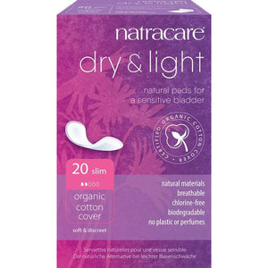 Natracare Dry & Light Incontinence Pads Slim x 20