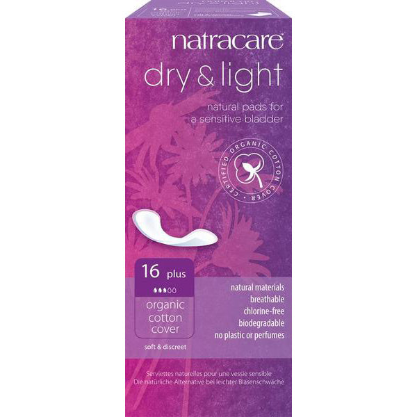 Natracare Dry & Light Incontinence Pads Plus x 16