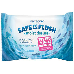 Natracare Safe to Flush Moist Tissues 30 Wipes