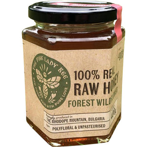 The Pink Lady Bee Raw Bulgarian Mountain Honey : Runny FOREST WILDFLOWER 400g
