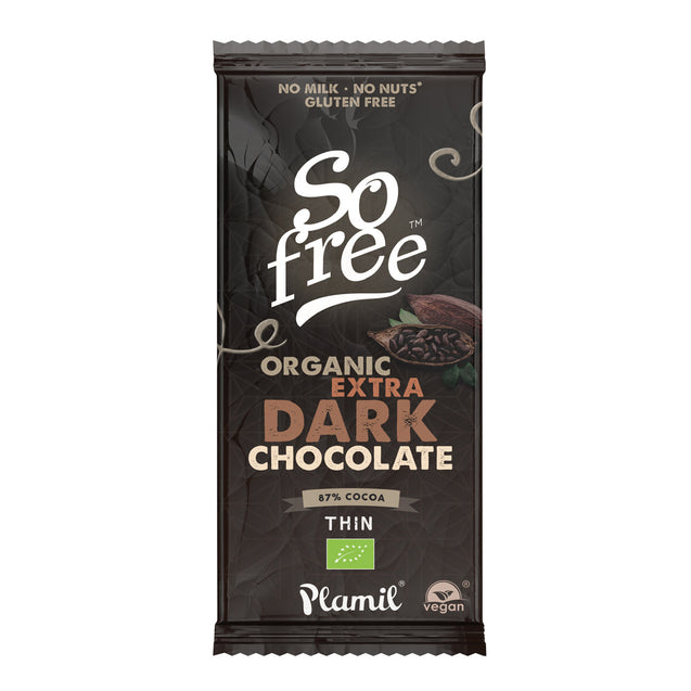 Plamil So Free Extra Dark Chocolate 80g