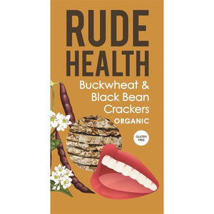 Rude Health Buckwheat & Blackbean Crackers, 120g