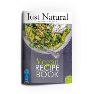 Just Natural Vegan Recipe Book - 52 pages. A5