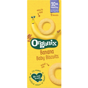 Organix Baby Ring Biscuits Banana 54g