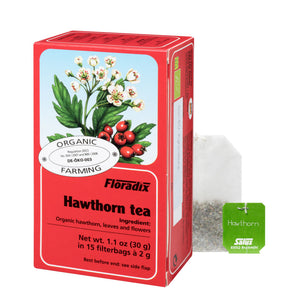 Floradix Hawthorne Organic Herbal Tea 15 filterbags