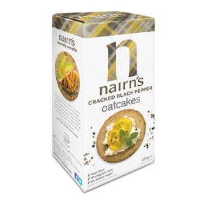 Nairns Cracked Black Pepper Oatcakes, 200g