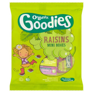 Organix Goodies Raisins - Mini Boxes 12 x 14g