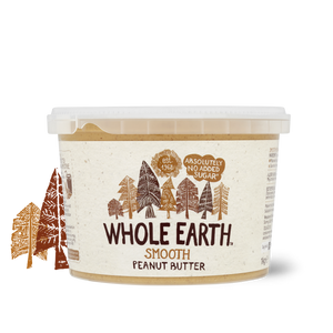Whole Earth Smooth Peanut Butter No Added Sugar 1000g