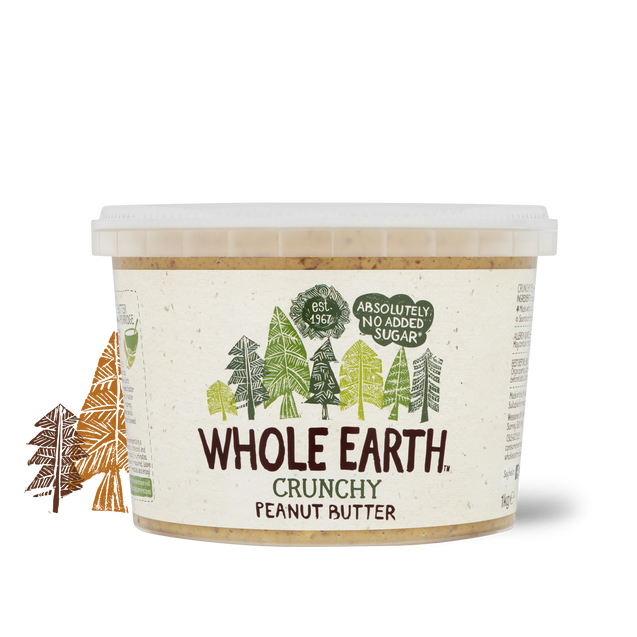 Whole Earth Crunchy Peanut Butter No Added Sugar 1000g