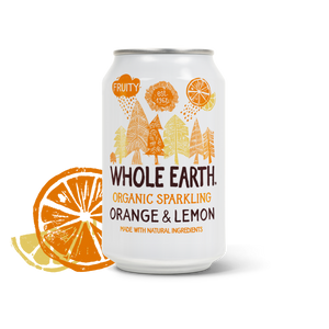 Whole Earth Organic Lightly Sparkling Orange & Lemon Drink 330ml