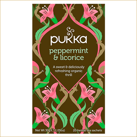 ØKOLOGISK PUKKA THE - PEPPERMINT & LICORICE