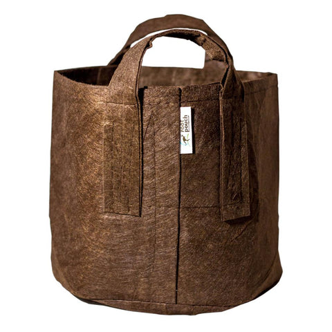 Root Pouch Pot Brown 16L met handvaten