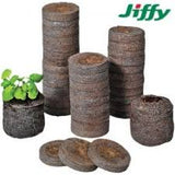 Jiffy plug geperst 30mm. 60 st + tray