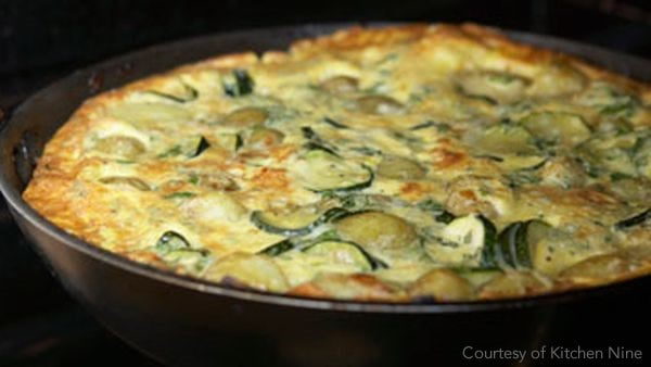 organic courgette omelette