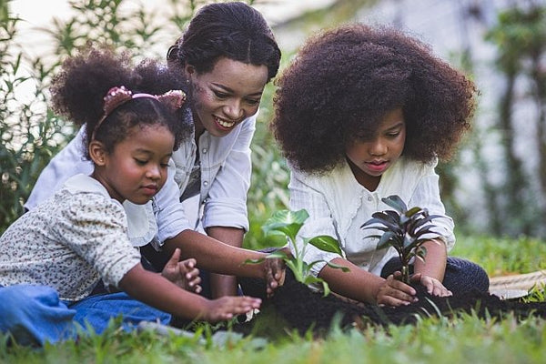 3. Family gardening together