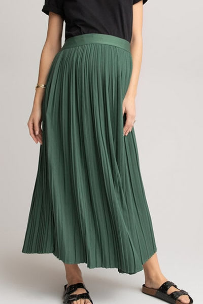 9. La Redoute Pleated Maternity Maxi Skirt in green